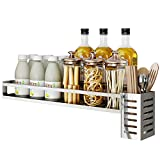 Spice Rack Wall Mount,Wall Mounted Spice Rack Organizer For Cabinet Hanging Seasoning Rack for Pantry Herb Jar Bottle Cans Holder Cabinet Shelf Storage, Bathroom Shelf-Space Saving, Durable-Stainless
