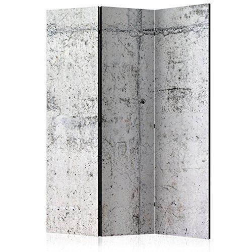 murando Raumteiler & Pinnwand Foto Paravent Beton Loft 135x172 cm beidseitig auf Vlies-Leinwand Bedruckt Trennwand Spanische Wand Sichtschutz Raumtrenner - Home Office - grau f-A-0332-z-b