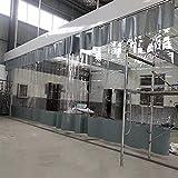 AMSXNOO Transparente Planenvorhänge, PVC Wasserdichter Außenplane Seitenteile, Vorhänge Reißfest mit Ösen, Vorhang für Die Autowäsche Pavillondach Garten Faltpavillon (Color : Klar, Size : 3.5X2.5M)