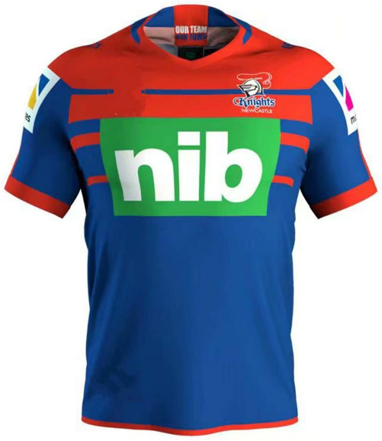 Newcastle Knights,Rugby Jersey,New Fabric Embroidered,Swag Sportswear