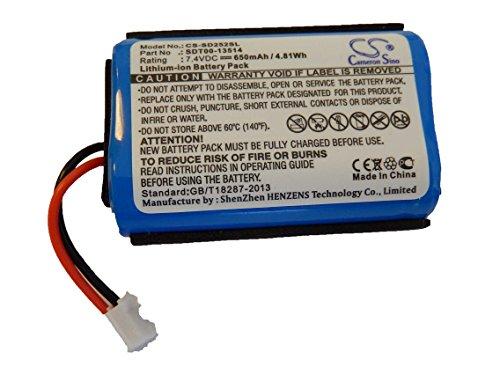 vhbw Batterie Li-Ion 650 mAh 7,4 pour émetteur Sportdog 2525 Prohunter SD, SAC00–13514 comme SDT00–13514.