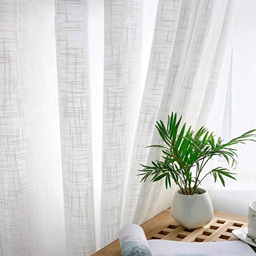 cortinas lino blanco
