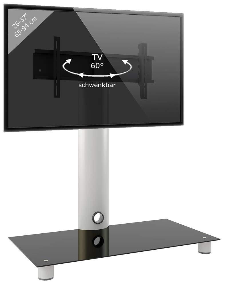 VCM 14220 Standol-Soporte Vertical de TV, Cristal de Color, Aluminio, Plata y Negro: Amazon.es: Hogar