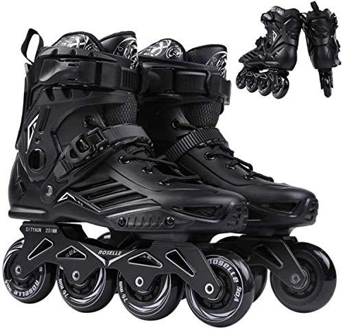 Patines en línea ajustables con ruedas para adultos, patines iluminadores para exteriores e interiores de rendimiento en línea, ideales para niños/niñas/jóvenes/adultos/principiantes-40