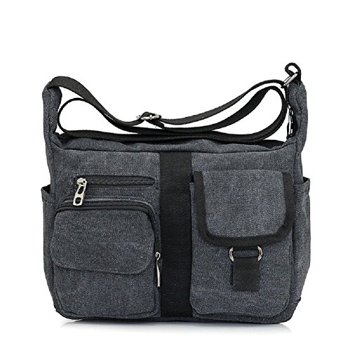 Messenger Bag for Men, MiCoolker Vintage Casual Canvas Messenger Shoulder Bag for Men/Women Daypack College Everyday Bag