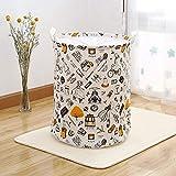 WLJBD Cesto de la Ropa Sucia Gran Capacidad, Canasta de lavandería Casa de baño Caseta Plegable Cesta de algodón Cesta de Juguete Canasta de Almacenamiento de viga Creativa 35x45cm