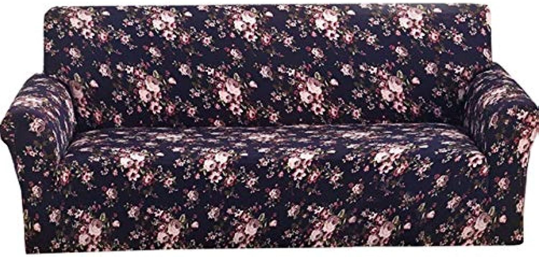 Printed Sofa Cover Furniture Slipcover Slip-Resistant Cloth Art Spandex Stretch Sofa Cover for Single Two Three Four-seat Sofa   B, 2 Seats