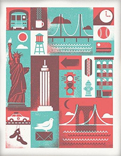 アメリカ ブルックリン発 TWO ARMS (トゥーアームズ) おしゃれ インテリア アートプリントポスター シルクスクリーン Mサイズ Over Print City オーバープリントシティ MP-OPNY56