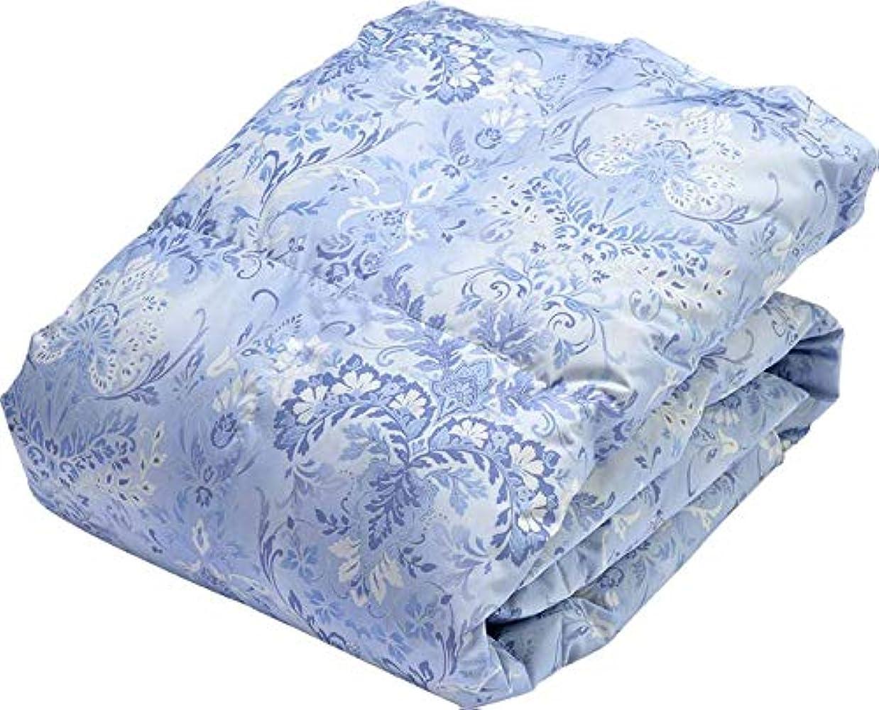 あたたかい主要な良い西川(Nishikawa) 掛けふとん ブルー ダブルロング190×210㎝ 洗える 肌掛けふとん ダウンケット 羽毛肌 4G9006N50-035