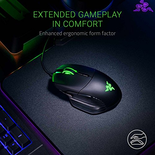 Razer Basilisk Gaming Mouse: 16,000 DPI Optical Sensor - Chroma RGB Lighting - 8 Programmable Buttons - Mechanical Switches - Customizable Scroll Resistance - Classic Black
