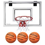 GoSports Basketball Door Hoop with 3 Premium Basketballs & Pump - PRO Size