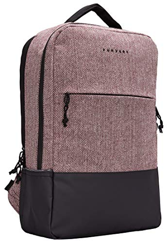 FORVERT New Lance Unisex Backpack markanter Backpack,Rucksack mit 15 Zoll gepolstertes Laptopfach,verstärkter Boden,spannenden Materialmix,Flannel Burgundy,one Size