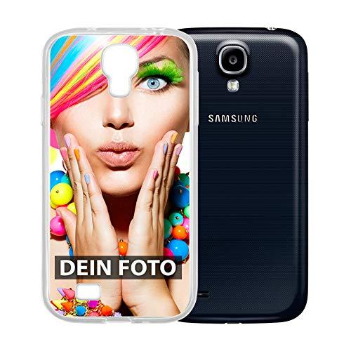 dP deinPhone Samsung Galaxy S4 - Handyhülle - Selbst gestalten/Individuell bedruckbar/eigenem Foto oder Text/Silikonhülle Transparent