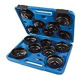 Silverline 952159 Juego de Llaves para Extraer Filtros de Aceite, Negro, 65-93 mm