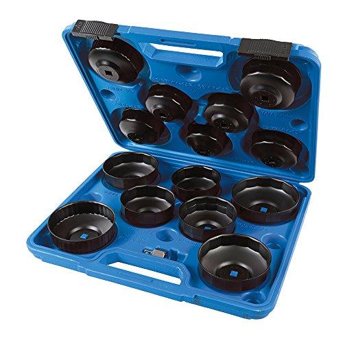 Oferta de Silverline 952159 Juego de Llaves para Extraer Filtros de Aceite, Negro, 65-93 mm