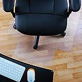 Marvelux 36' x 48' Vinyl (PVC) Lipped Chair Mat for Hard Floors | Transparent | Multiple Sizes