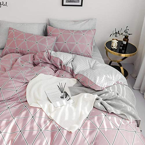 yaonuli Beddengoed voor kleine katoenen beddengoed set vanvier sets van studentenspreisets (bed 150 * 200 dekbedovertrek 200 * 230 kussensloop2)