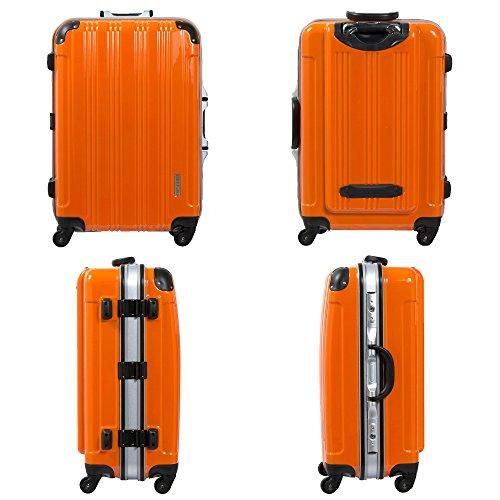 S型オレンジ/ミラーKingdom機内持込スーツケースキャリーバッグTSAロック搭載超軽量(1-3日用)