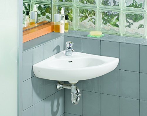 Cheviot Products Inc. 1350-WH-1 Wall Mount Corner Sink, White