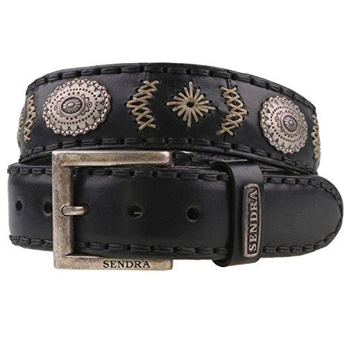 Sendra 8535 ceinture en cuir noir, Noir, 100