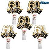 Opopark 24 Piezas de Decoración de Fiesta de Cumpleaños Set Accesorios de Decoración de Fiesta de Cumpleaños de Oro(60)