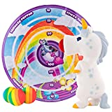 Hog Wild White Unicorn Popper Toy and Sticky Target Set - Shoot Foam Balls Up to 20 Feet - 4 Rainbow Balls Included - Age 4+