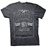 49th Birthday Gift Shirt - Vintage Aged to Perfection 1971 - Dk. Heather-002-Md