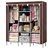 FASNO 6+2 Layer Fancy and Portable Foldable Collapsible Closet/Cabinet/Need to Be Assembled Brown 88130
