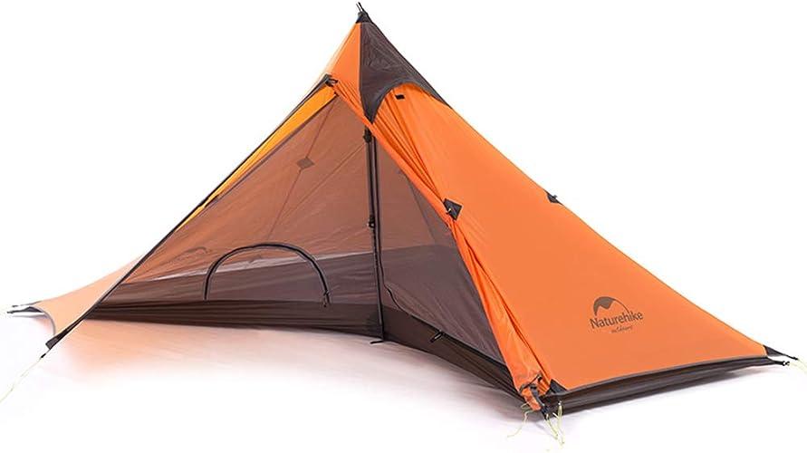 JYL Tente de Camping Ultra-légère pour Une Personne avec Tapis, Tente de randonnée Minaret, randonnée en Plein air Ultra-légère Double Tente de Camping
