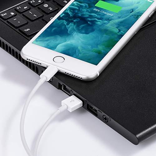 Everdigi Datenkabel für iPhone Kabel 5 Pack für Apple Kabel(3 * 1m, 1 * 2m, 1 * 3m) schnell USB Ladekabel für iPhone XS XS Max XR X 8 8 Plus 7 7 Plus 6s 6s Plus 6 6 Plus SE 5s 5c 5 iPad - Weiß