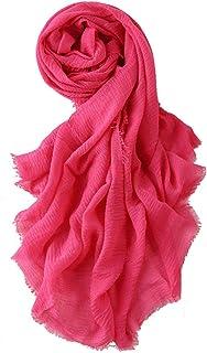 Women Soft Cotton Hemp Scarf Women's Long Head Scarves - Hijab Wrap Shawls Scarf