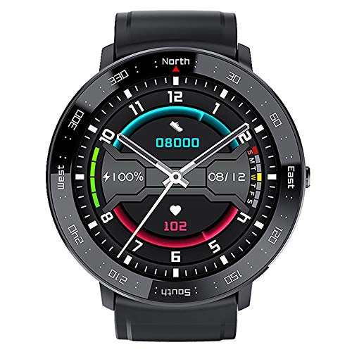 Mengen88 Smart Watch Fitness Tracker, Waterproof Sports Fitness Watch with Step Counter Calories Counter Activity Tracker, Relojes Touch Touch Completos, para Hombres Mujeres Niños,Negro