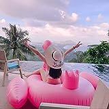 Lady of Luck Inflable Gigante Flamencos, Flotador de para Piscina Adecuado para la Familia Usted con Pileta Disfrute de Sus Agradables Vacaciones