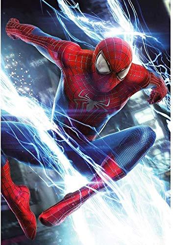 DVBQQWE DIY 5D Spiderman Diamant Peinture par Numéro Kits pour Adultes et Enfants, 30 X 40 cm Rond Plein Forage Cristal Strass Broderie Point De Croix Arts Artisanat Toile pour La Décoration Murale
