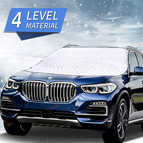 MITALOO Car Windshield Snow Cover with 4 Layers Protection Winter Frost Snow Ice Cover Auto Sun...