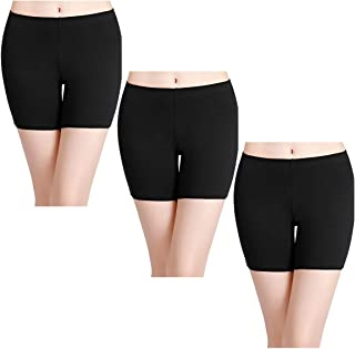 Women's Cotton Boxer Briefs Underwear Anti Chafing Boy Shorts Ladies Safety Panties for Skirts