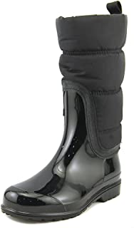 MICHAEL Michael Kors Women's Cabot Quilted Rainboot, Admiral/Black, Size 10 M