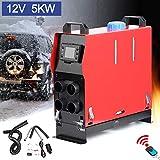 Triclicks 5KW 12V Calentador de Aire Diesel,Diesel Calentador Coche,Calentador de Combustible Calefacción Estacionaria Diesel con Monitor LCD para Furgonetas, remolques de automóviles,Barcos