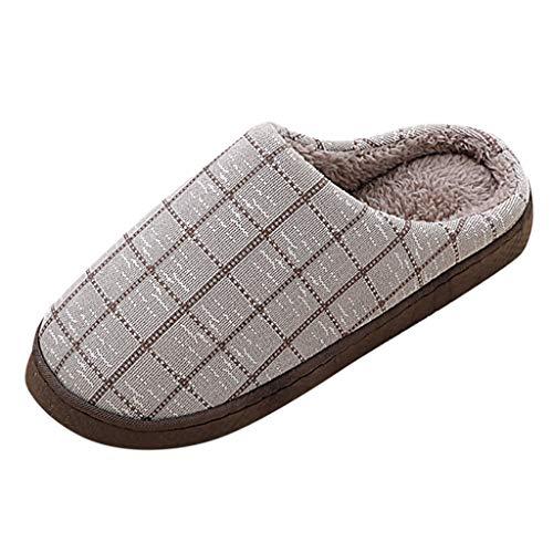Bumplebee Hausschuhe Unisex Winter Wärme Gefüttert Plüsch Baumwolle Pantoffeln rutschfest Bequem Haus Slippers Drinnen und Draussen Freizeit Filzhausschuhe Herren Damen