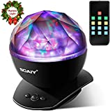 SOAIY LED Farbwechsel Nachtlicht-Lampe mit Polarlicht Projektion, 4 Timer, 3 Helligkeitsstufen,...