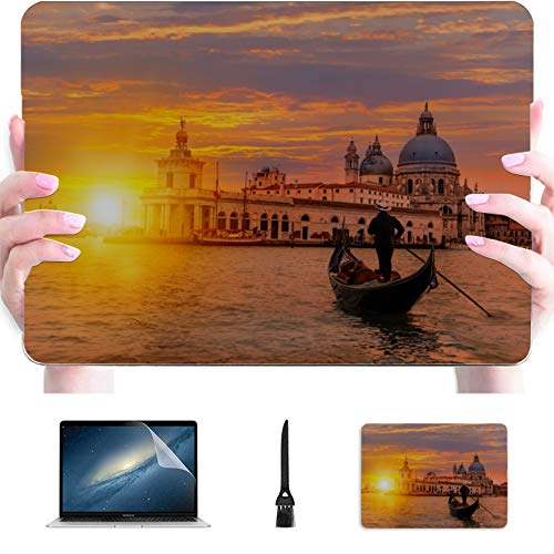 15 Inch MacBook Case Famous Canal and Bridge at Sunset Plastic Hard Shell Compatible Mac Air 13' Pro 13'/16' MacBook Pro Case 15 Protective Cover for MacBook 2016-2020 Version