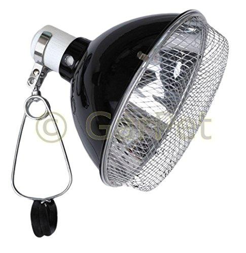 Terrarium Klemmlampe Reflektor Schutzgitter Clamp Lamp Keramikfassung Lampe E27 22 cm