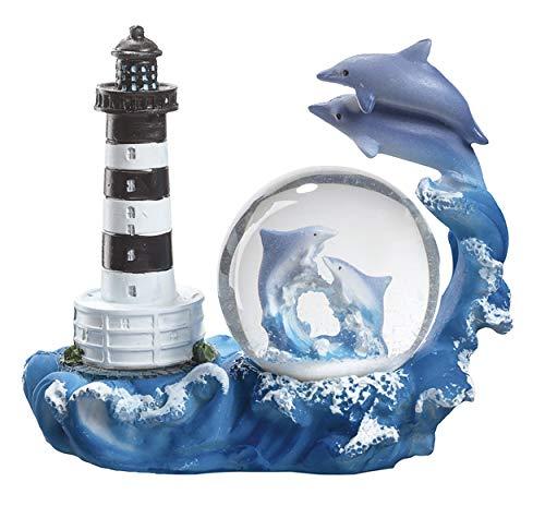 Schneekugel Delfin Leuchtturm Jagd, 10 x 5 x 10 cm ...