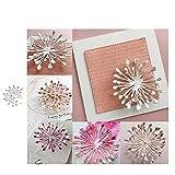 Ruby569y - Fustelle in metallo, a forma di fiore, per fai da te, scrapbook, biglietti, album decorativi, stencil, color argento, per fai da te e biglietti di auguri