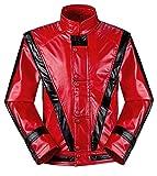 Shuanghao Michael Jackson Jackets MJ chaquetaTraje de Cosplay Thriller Batirlo Billie Jean Traje de Fiesta de Halloween Chaqueta (Give Glove) … (Peso:65-72kg, Thrille)