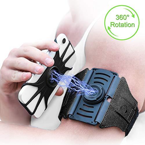VUP Running Armband,Detachable and 360 Rotatable Sports Phone Armband...