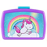 P:os 27558 - Fiambrera infantil con inserto en colorido diseño de unicornio, aprox. 16x 12x 6,5cm, de plástico, sin BPA ni ftalatos