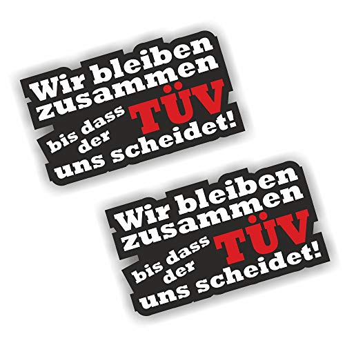 Foliezentrum 2X bis der Tüv Stickers Shocker Hand Auto JDM Tuning OEM Dub Decal Stickerbomb bombing Sticker Illest Dapper Fun Oldschool