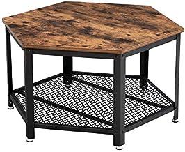 VASAGLE Vintage stolik do salonu, stolik kawowy z dużym miejscem do przechowywania, stolik kawowy, do salonu lub biura, so...