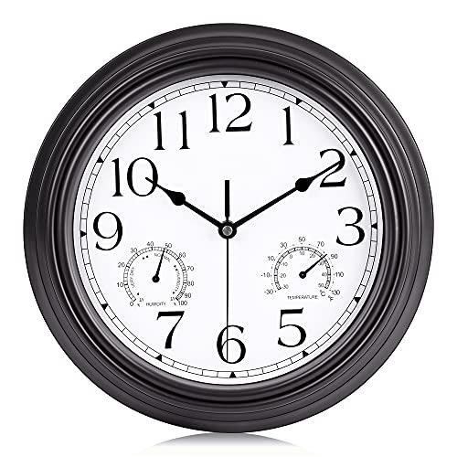Relojes De Pared Con Termometro E Higrometro  marca Lafocuse